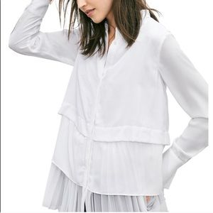 Banana Republic Multi Layer White Blouse
